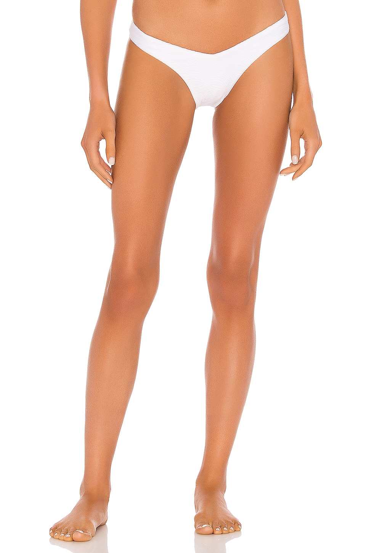 Seafolly Capri Sea V High Cut Rio Bikini Bottom in White