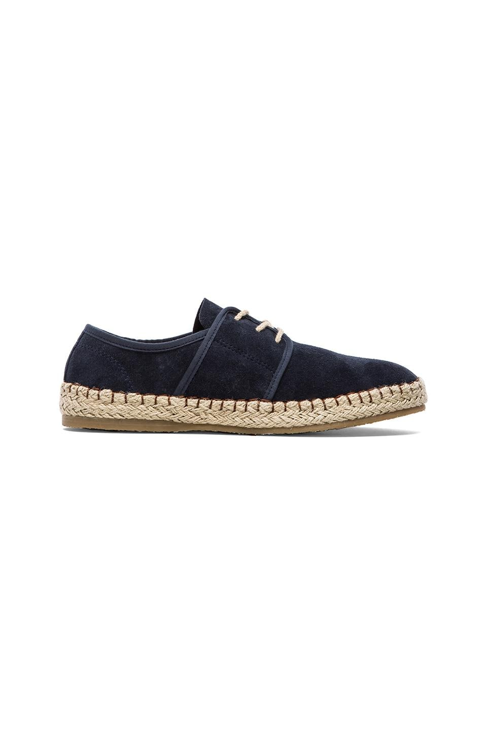 SeaVees 07/60 Sorrento Sand Shoe in Navy Suede
