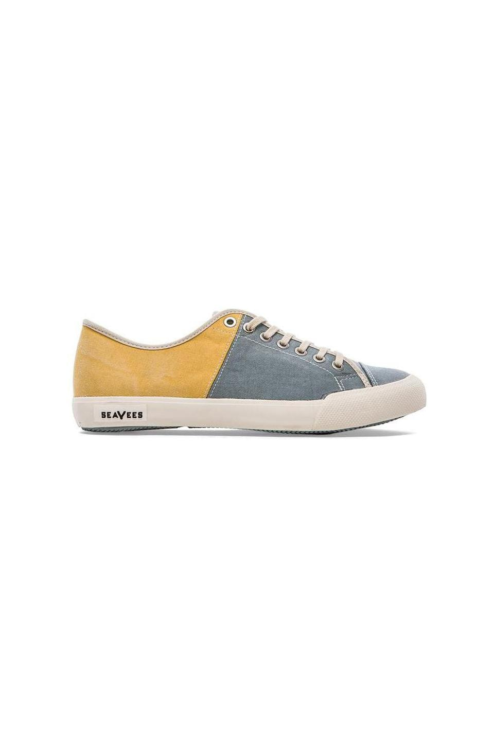 SeaVees 08/61 Army Issue Sneaker in Slate & Marran Yellow