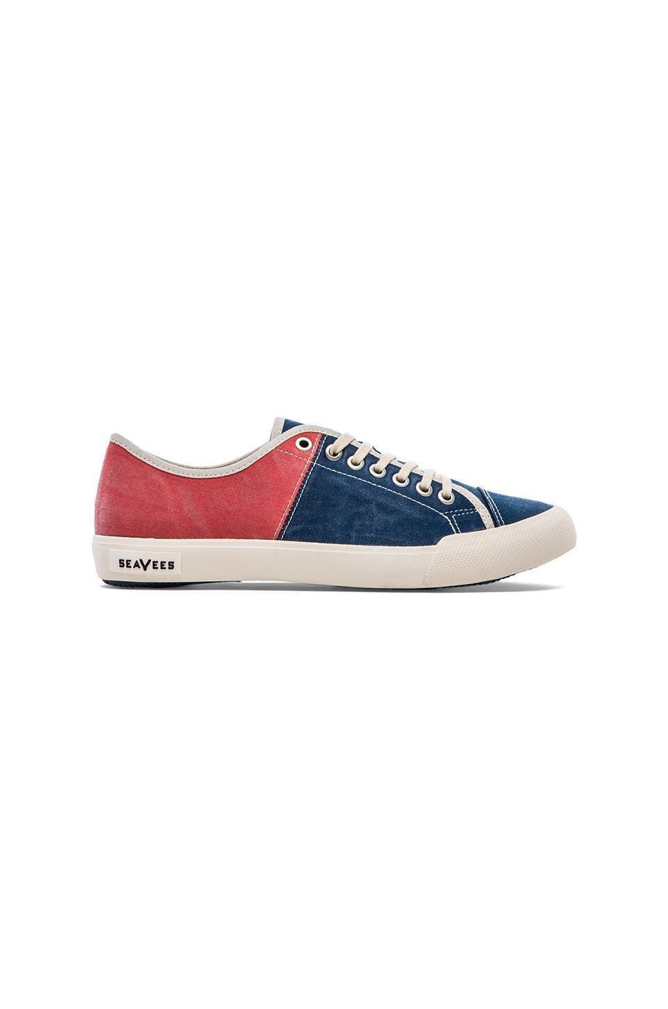 SeaVees x Katin USA 08/61 Army Issue Sneaker Low in Deep Sea Blue/Coral Red