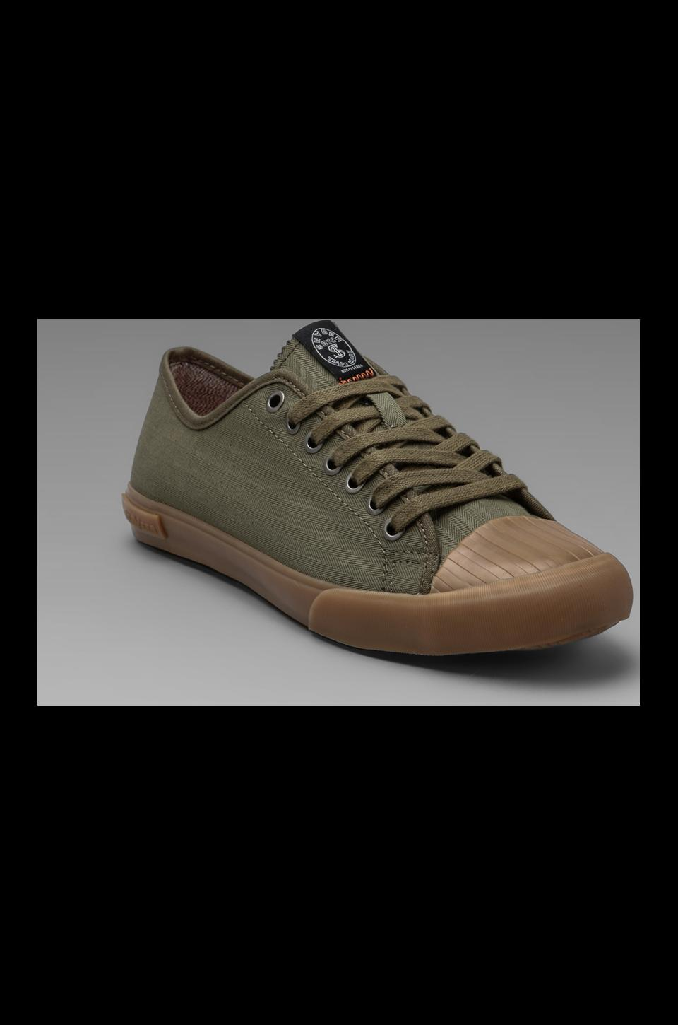 SeaVees x Todd Snyder Army Issue Low Top in Olive Herringbone