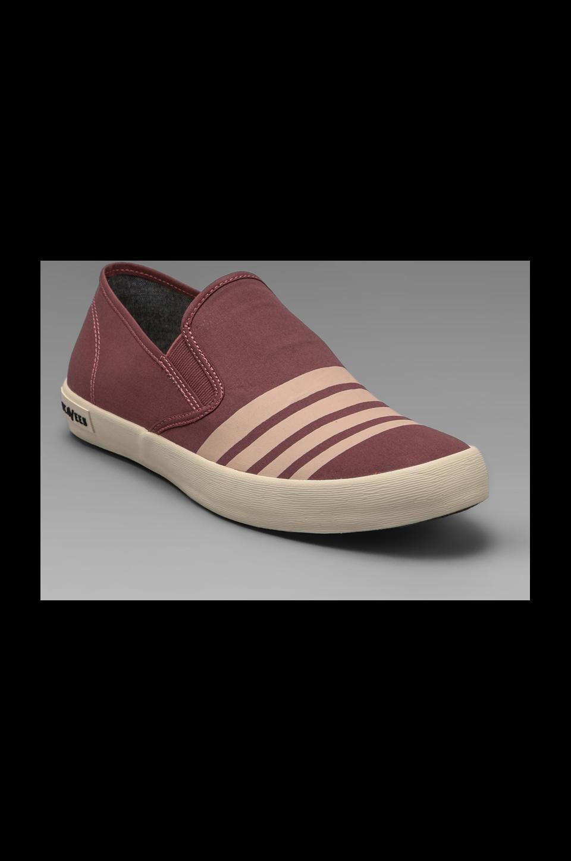 SeaVees Baja Slip-on Board Stripe in Mineral Red