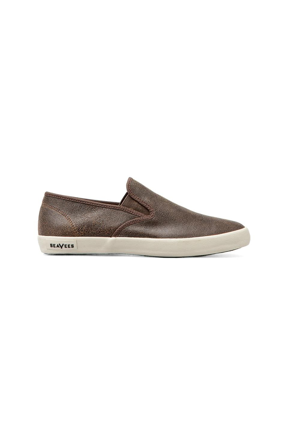 SeaVees 02/64 Baja Slip On Surplus in Brown Bomber Leather Jacket