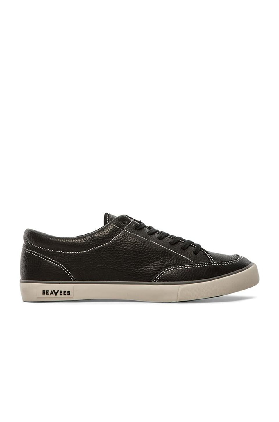 SeaVees 05/65 Westwood Tennis Shoe in Noir Vintage Leather