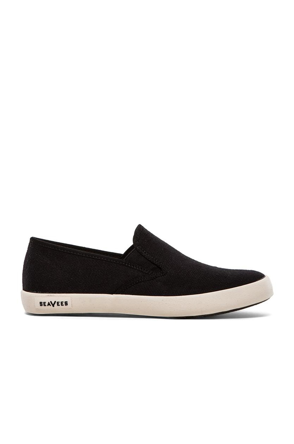 SeaVees 02/64 Baja Slip On Hemp in Black
