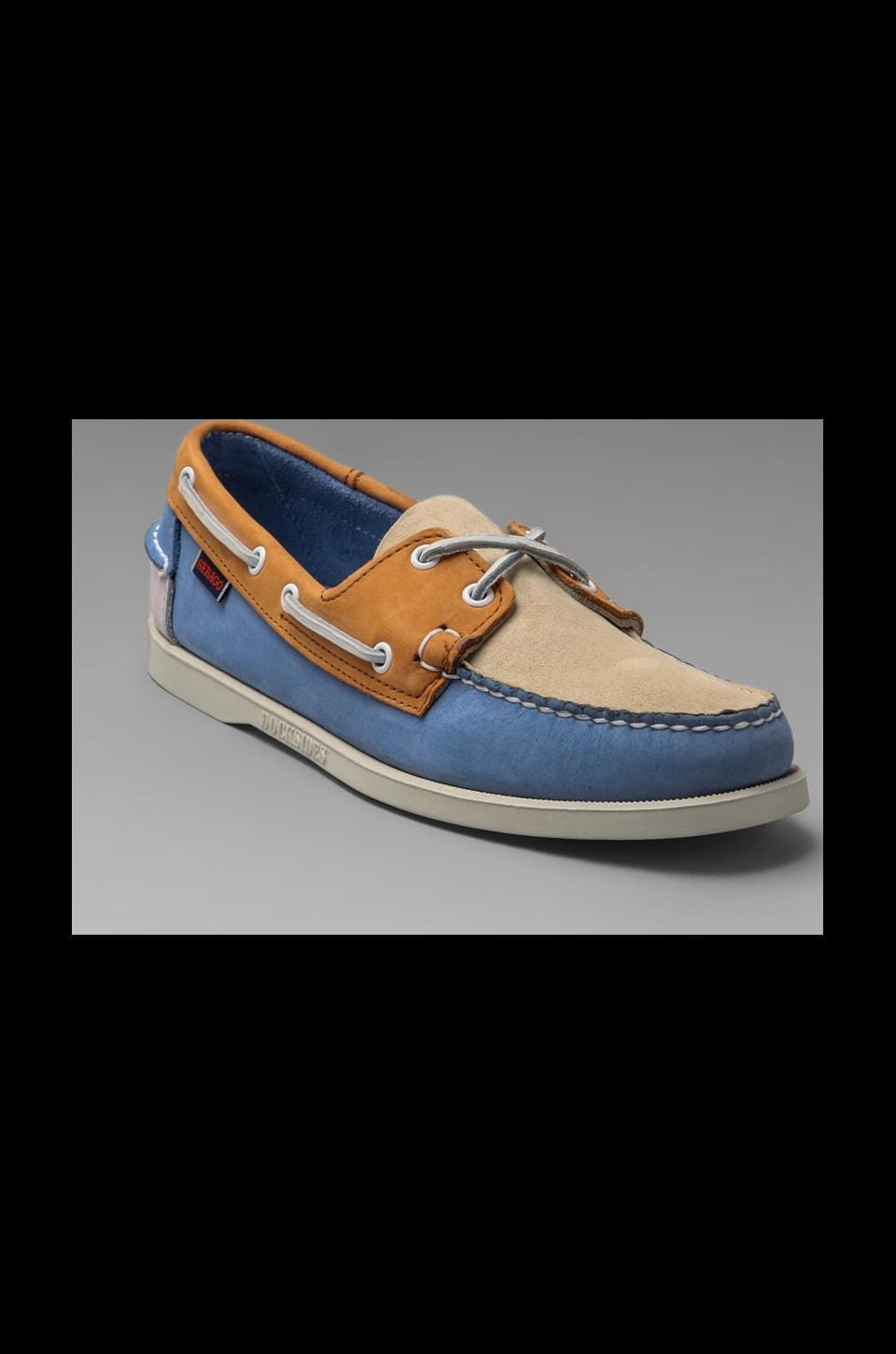 Sebago Spinnaker in Blue/Ivory/Orange