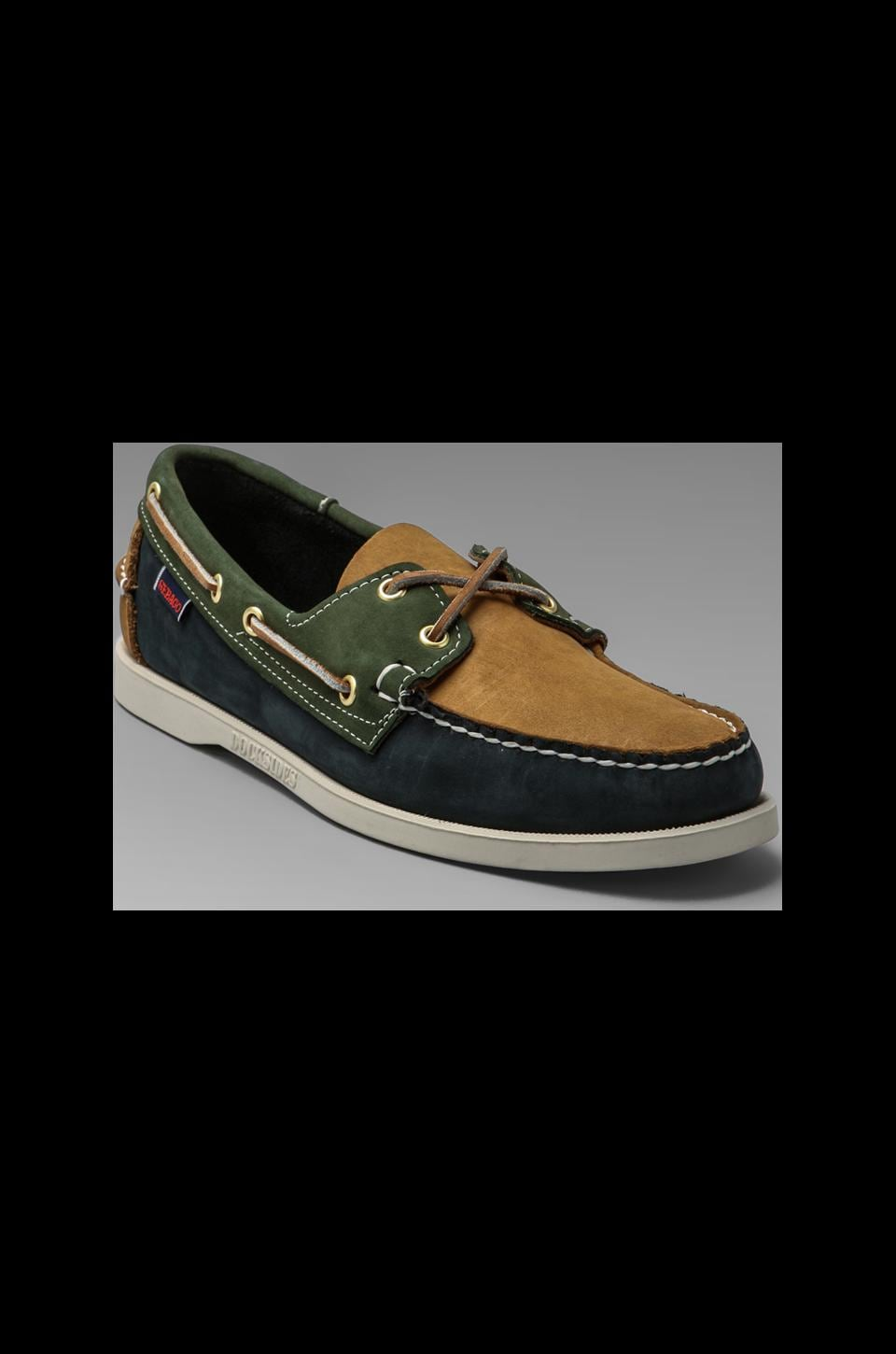 Sebago Spinnaker in Navy/Tan/Pine