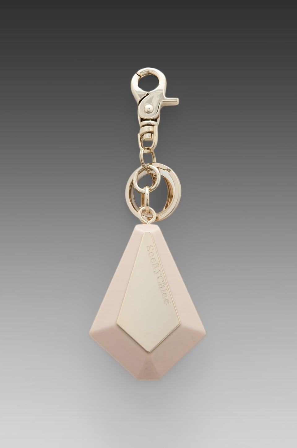 See By Chloe SBC Products Stone Keyring in Bliss