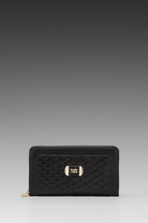 See By Chloe Mina Long Zipped Wallet in Black