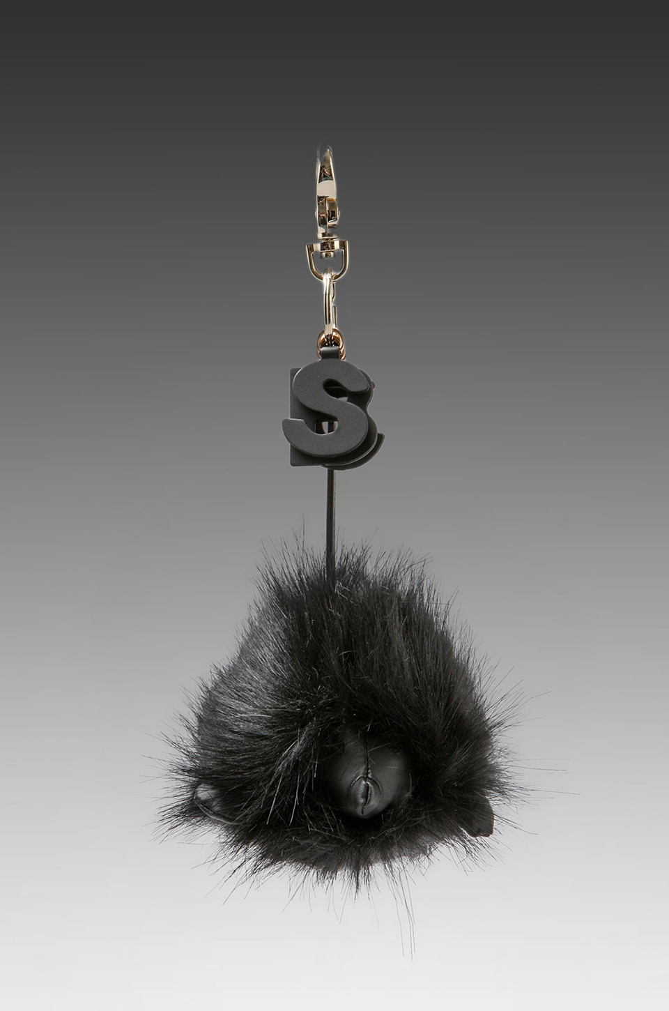See By Chloe Hedgehog Key Chain in Black