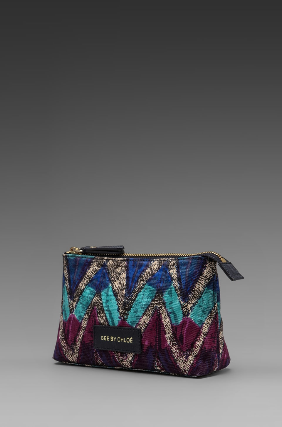 See By Chloe Agathe Cosmetic Pouch in Mint Pheonix Print
