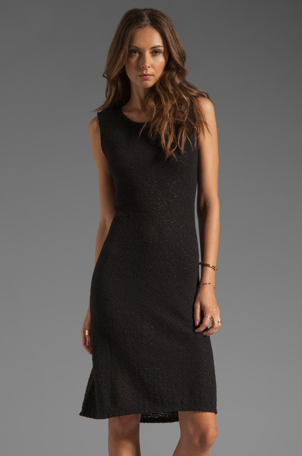 See By Chloe Short Sleeve Boatneck Dress in Black