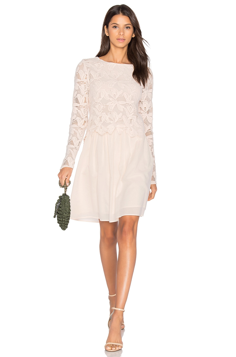 Long Sleeve Lace Mini Dress by See By Chloe