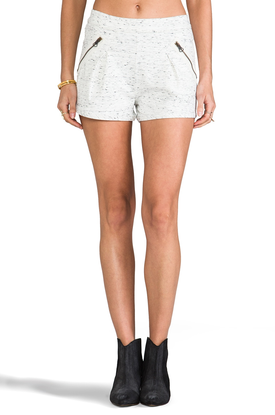 See By Chloe Shorts with Zipper Pockets in White