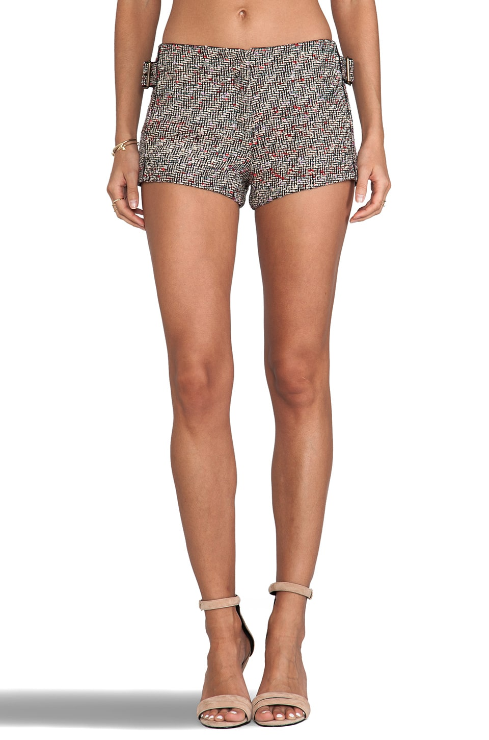 See By Chloe Shorts in White & Black & Red