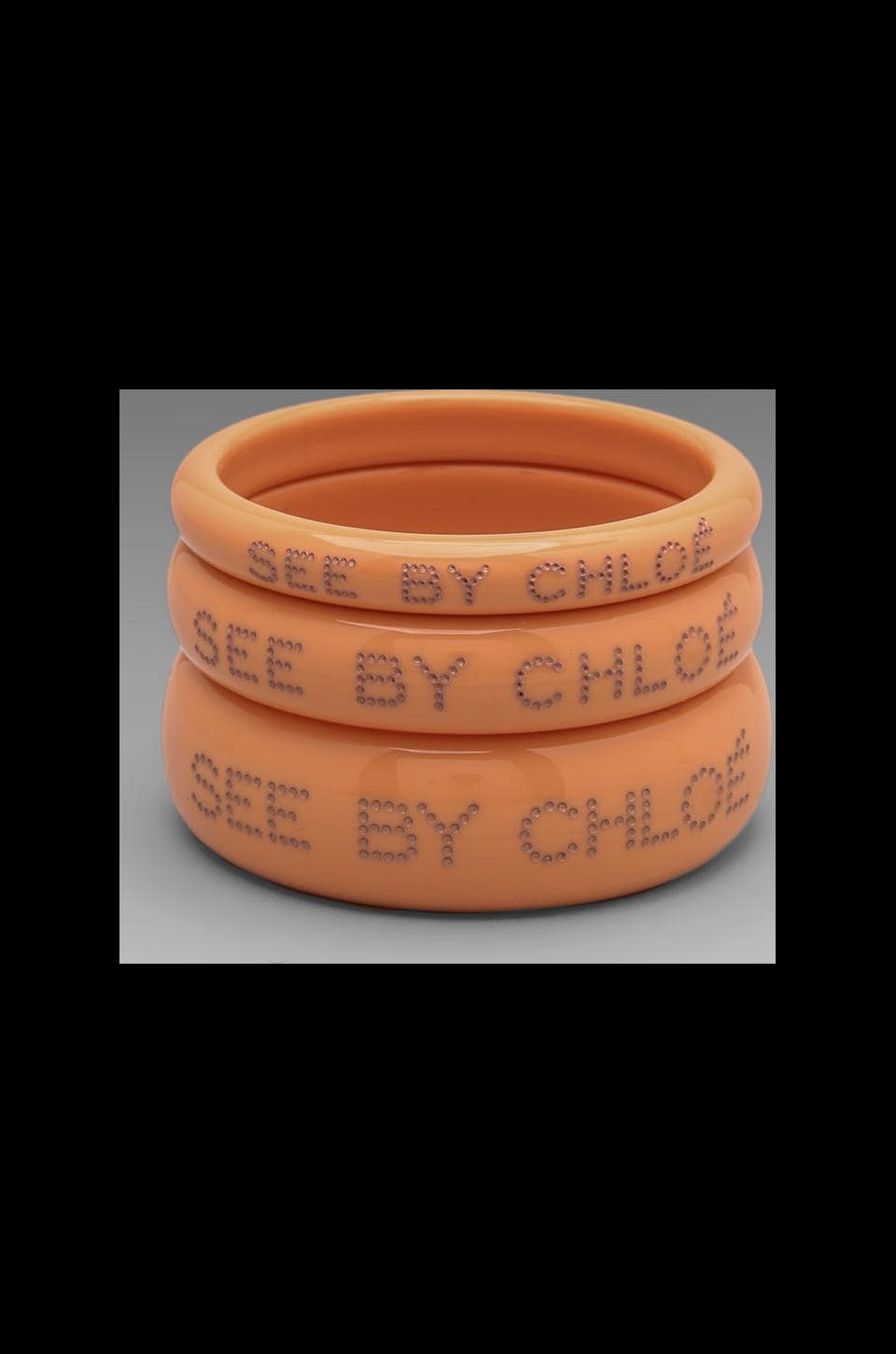 See By Chloe Bangles in Apricot