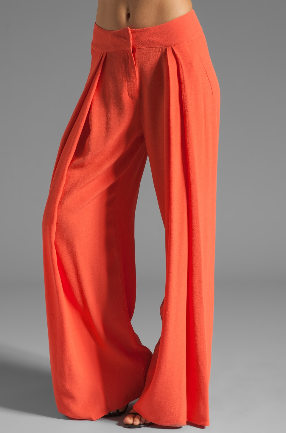 See By Chloe High Waisted Wide Leg Pant in Orange