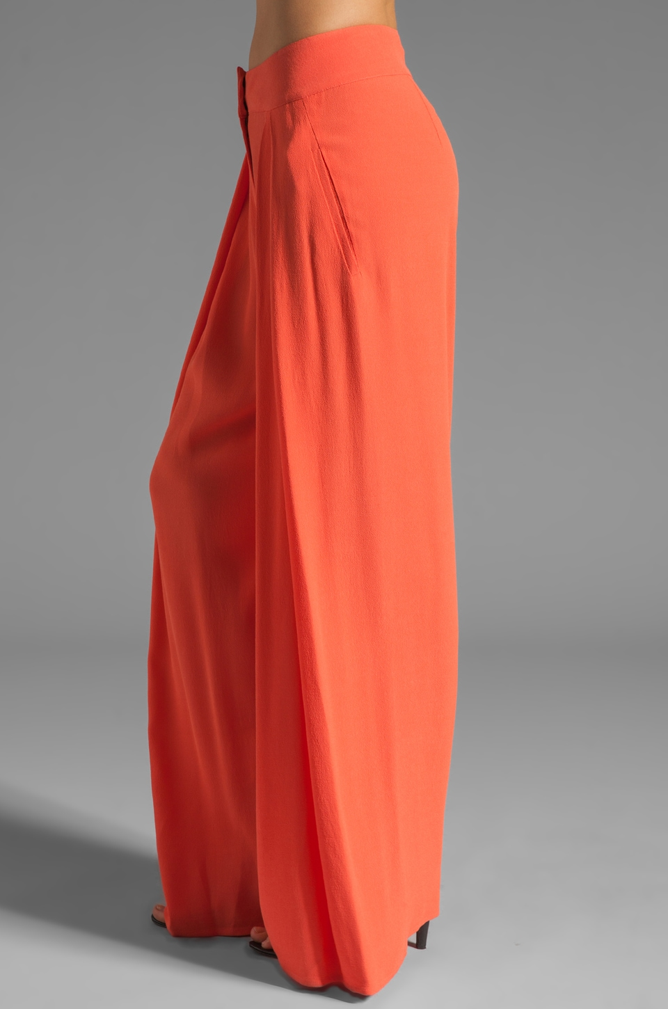 See By Chloe High Waisted Wide Leg Pant in Orange | REVOLVE
