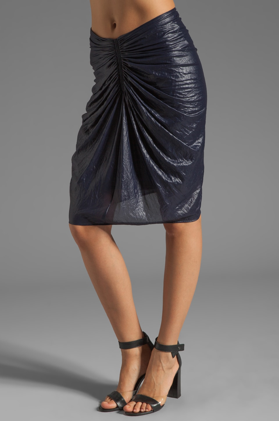 See By Chloe Gathered Center Skirt in Navy