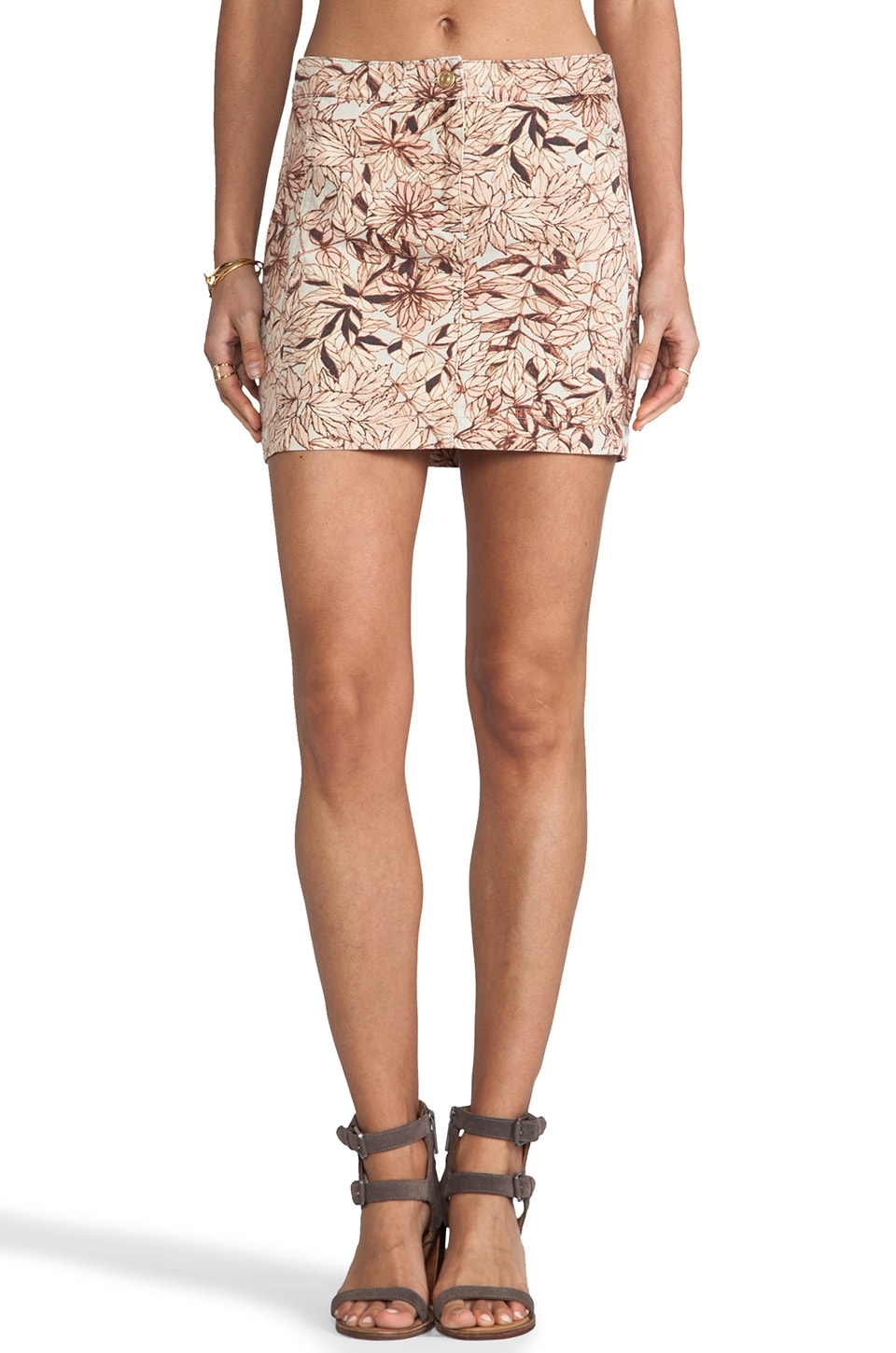 See By Chloe Denim Mini Skirt in Watermelon