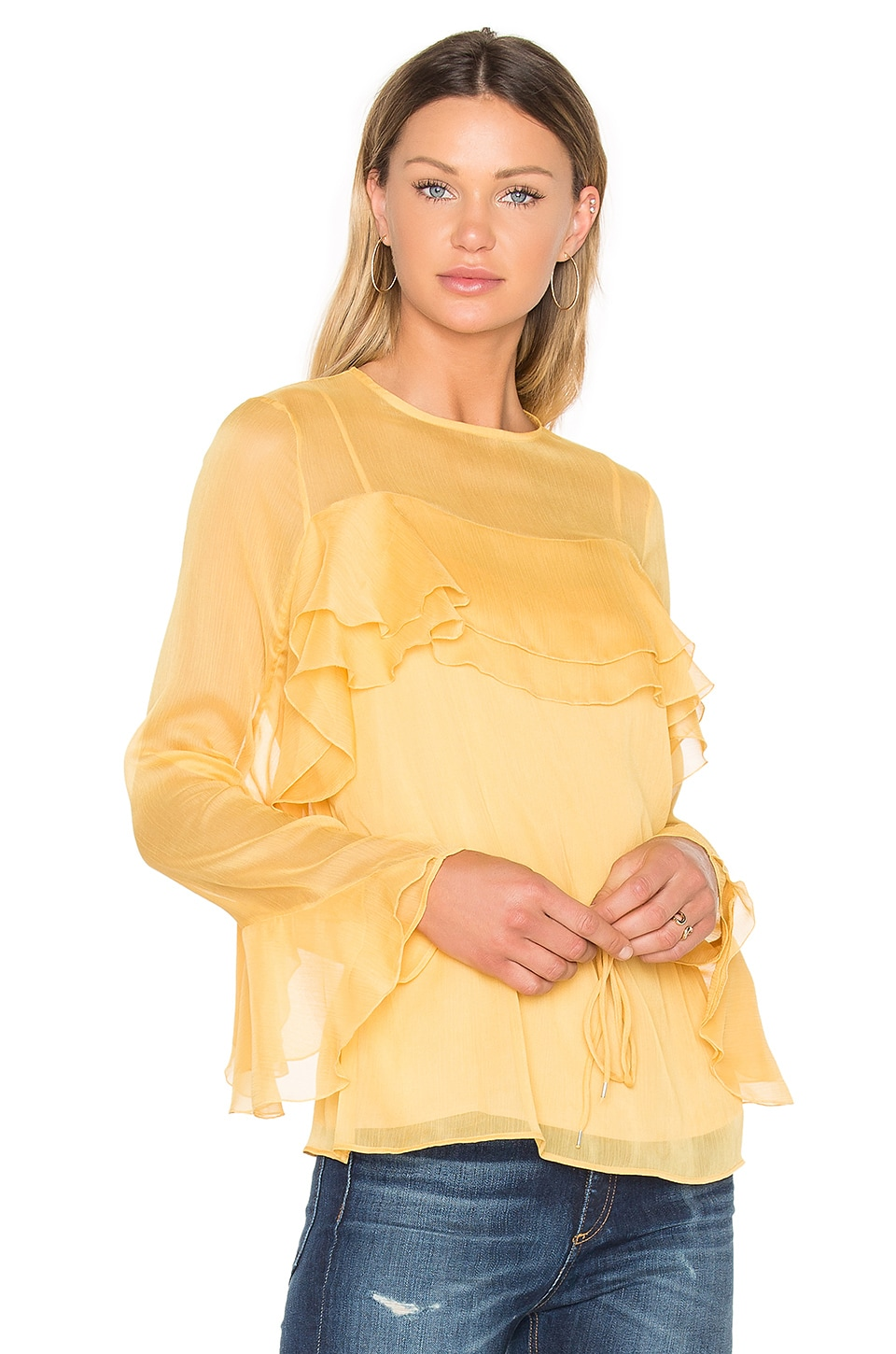 Tied Waist Long Sleeve Blouse by See By Chloe