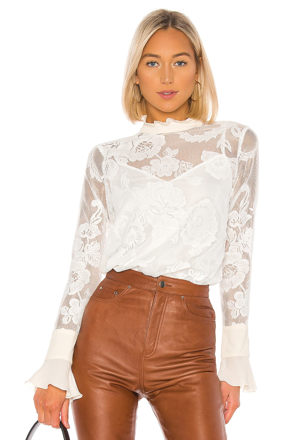See By Chloe Lace Blouse in Iconic Milk