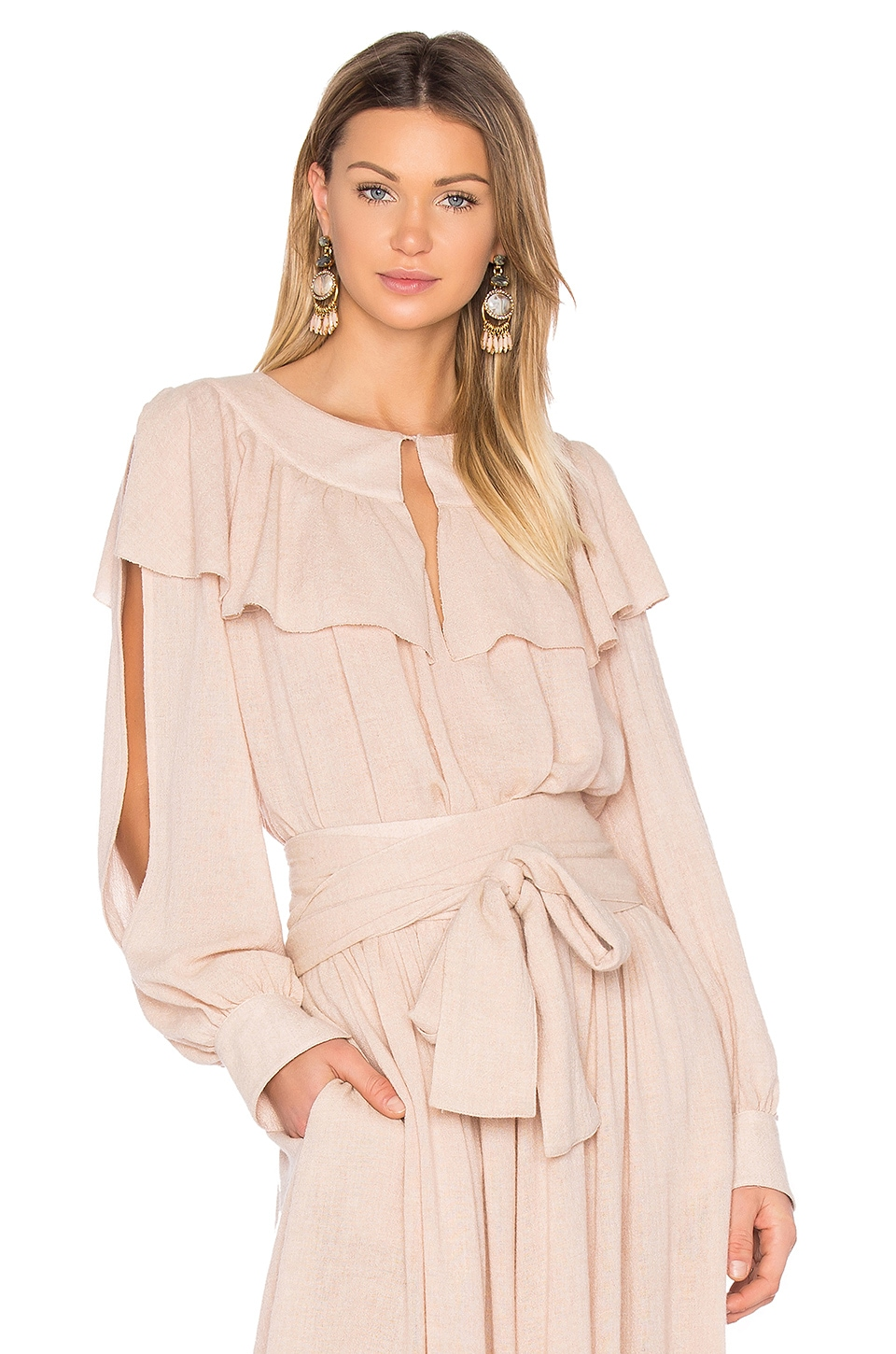 See By Chloe Ruffle Top in Powder