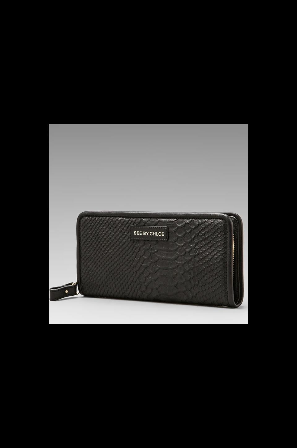 See By Chloe April Book Wallet in Black