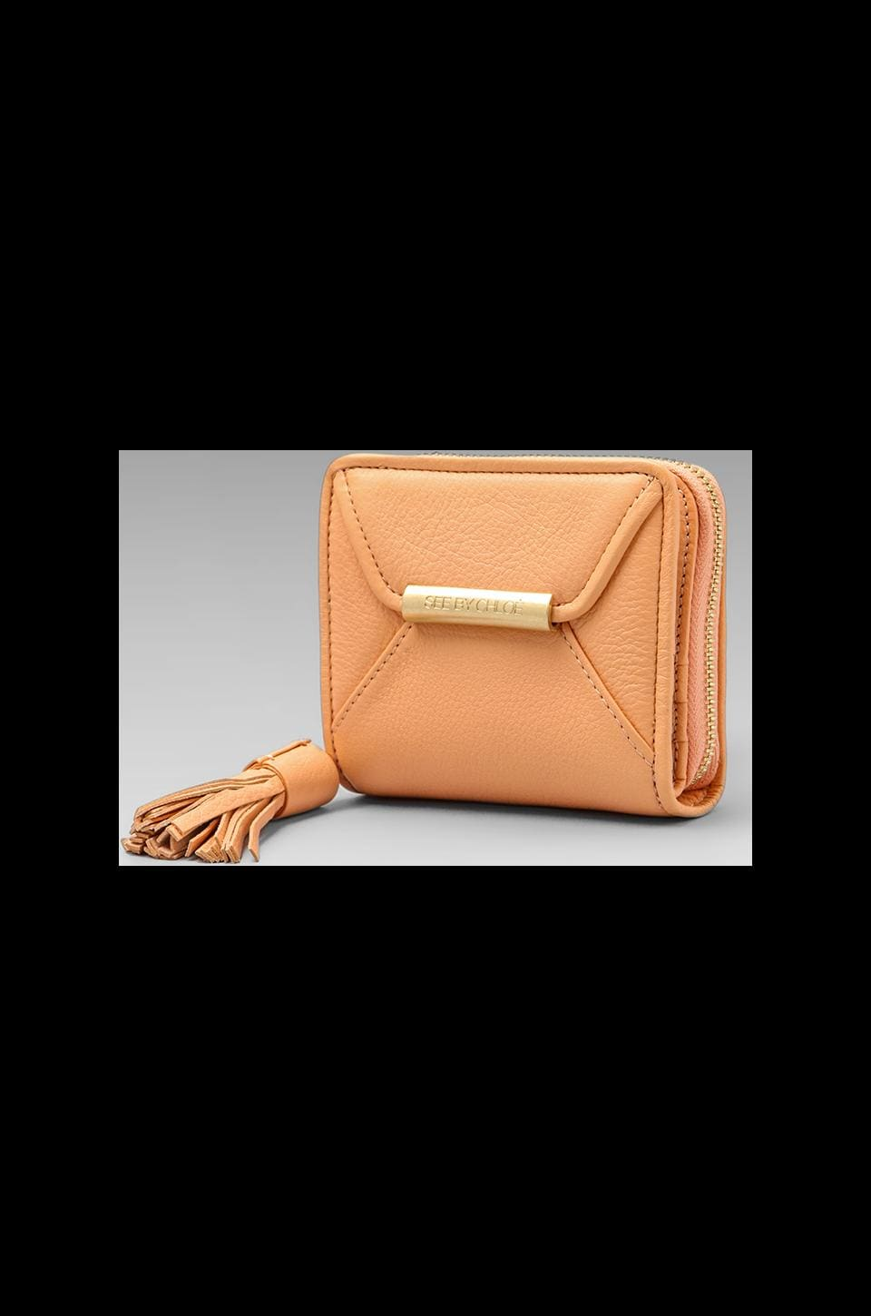 See By Chloe April Square Zipped Wallet in Apricot