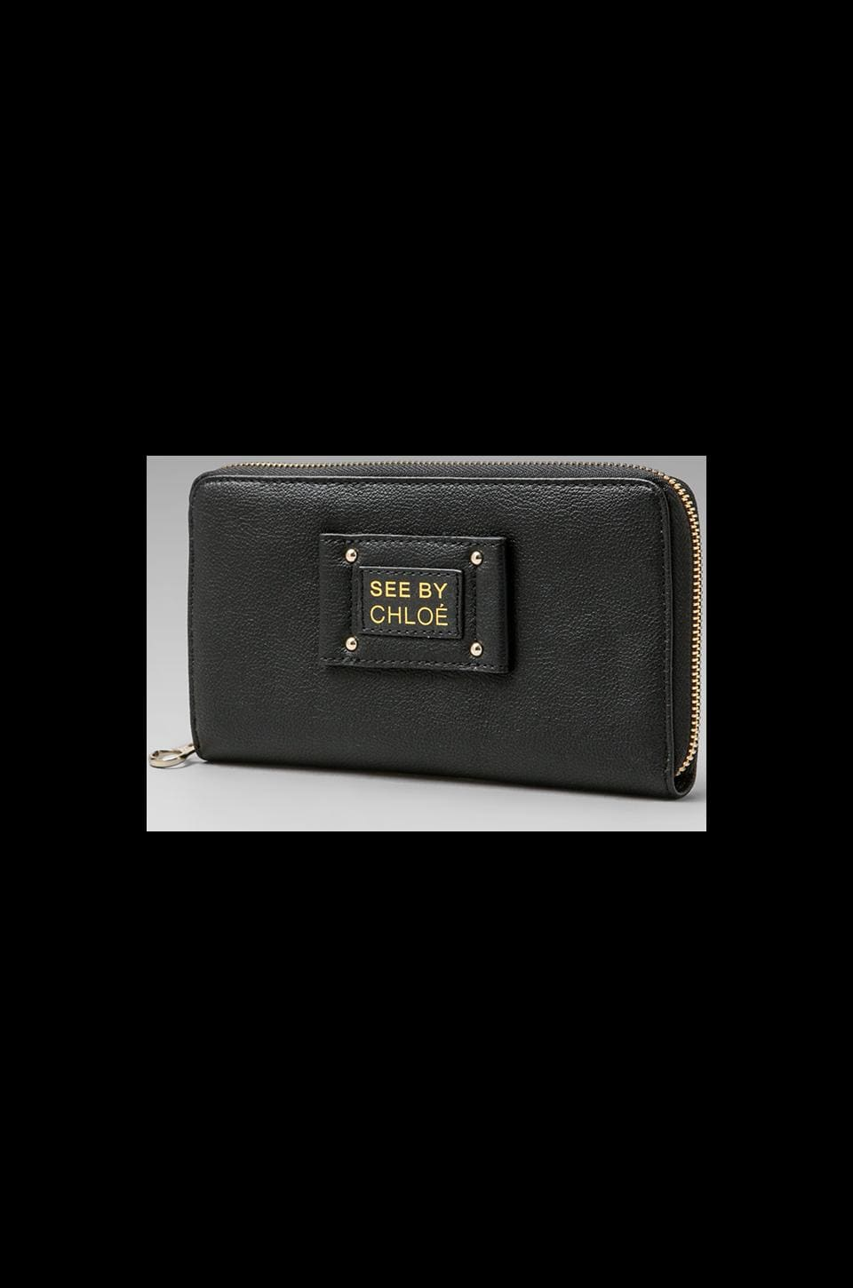 See By Chloe Maya Long Zipped Wallet in Black