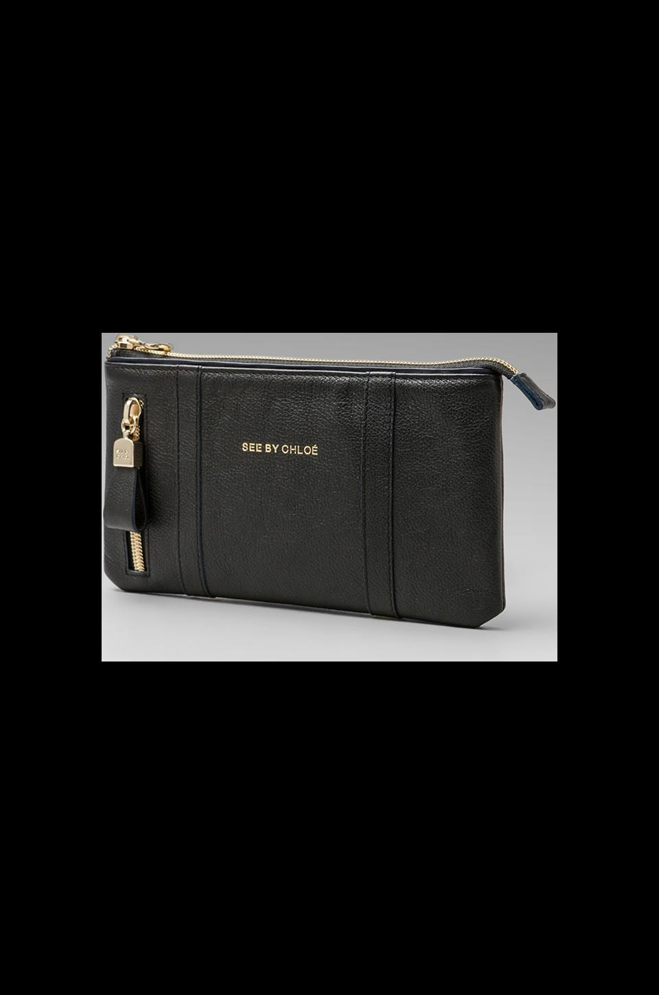See By Chloe Harriet Zipped Pouch in Black