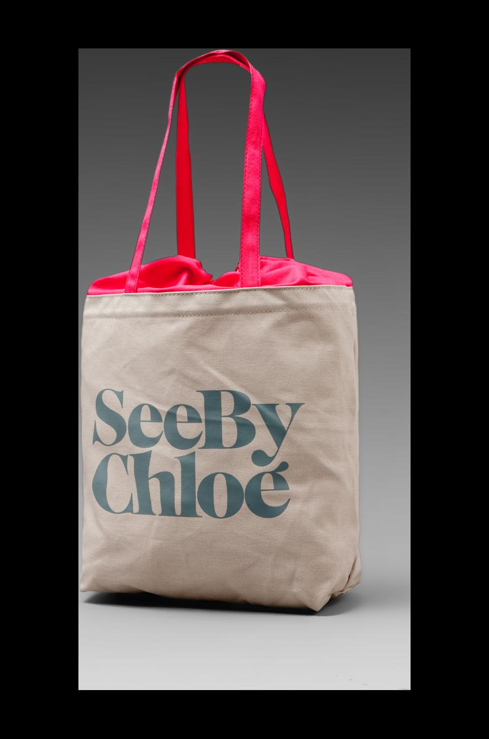 See By Chloe Gimmick Medium Shopper in Opaline