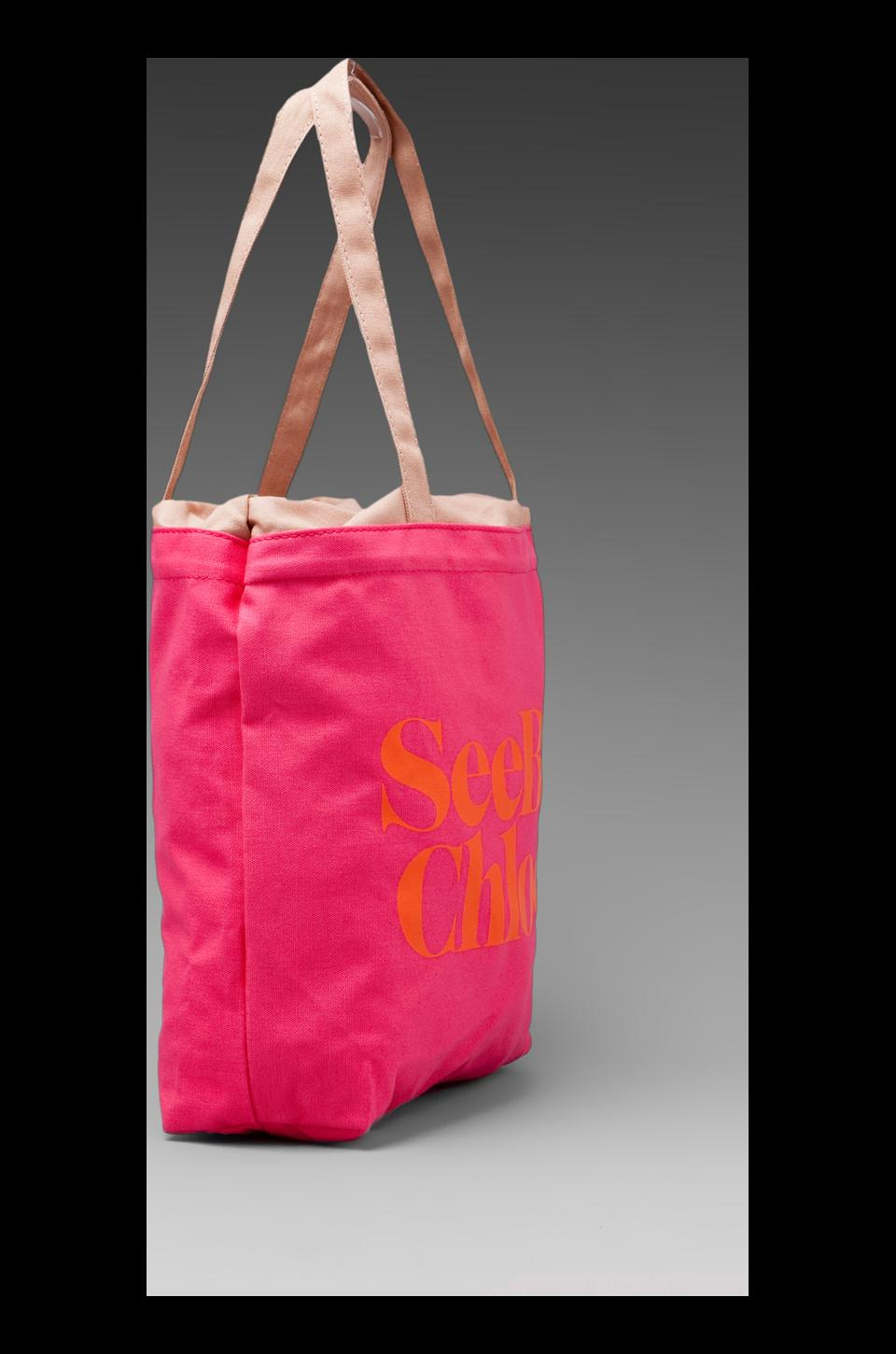 See By Chloe Gimmick Medium Shopper in Indian Pink