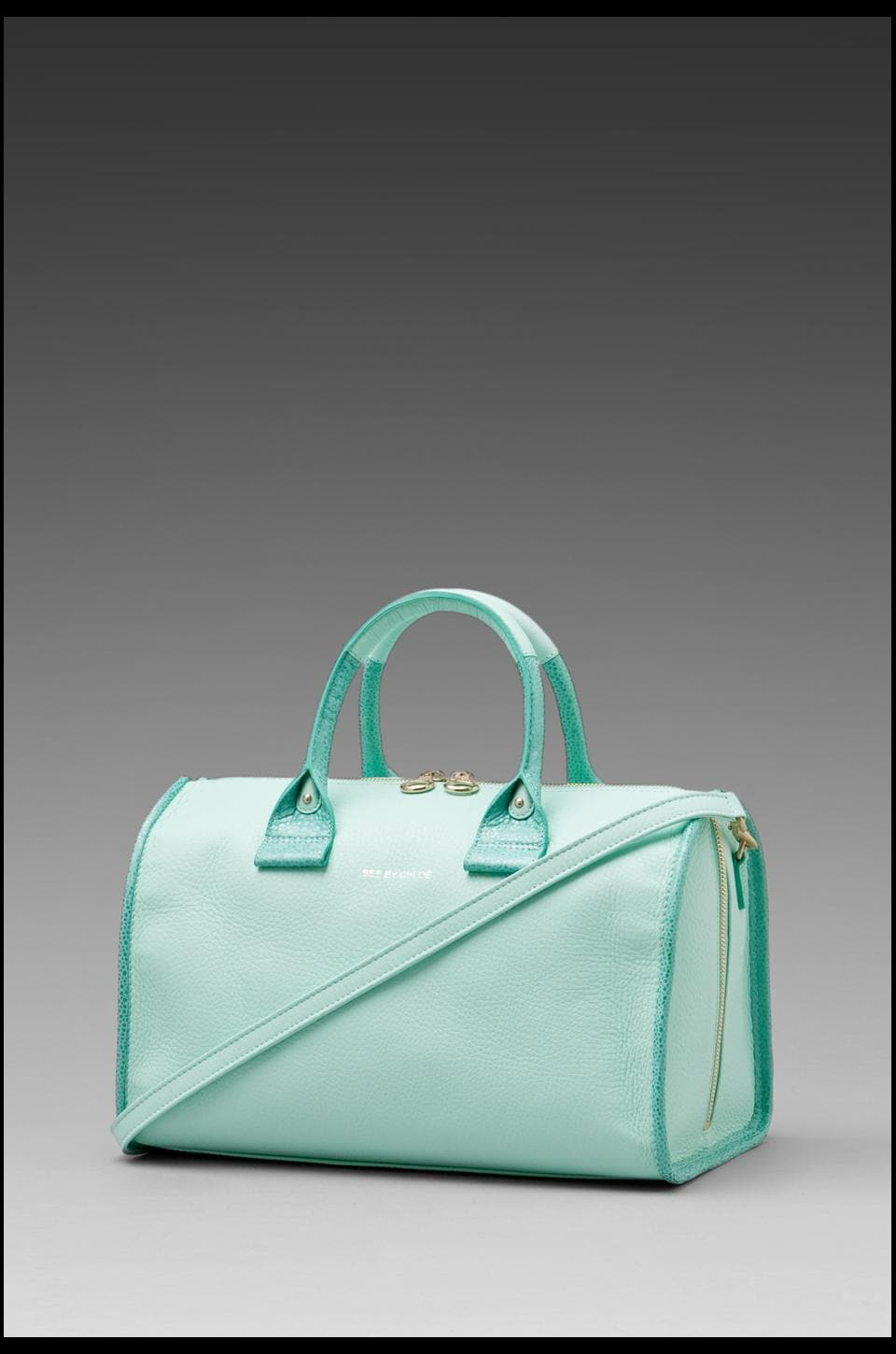 See By Chloe April Large Duffel in Aqua Green