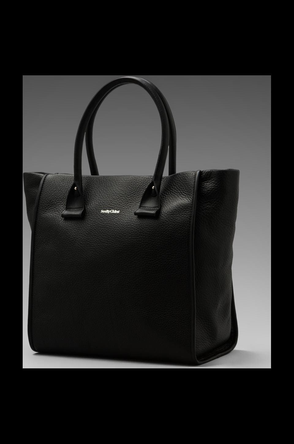 See By Chloe April Large Tote in Black