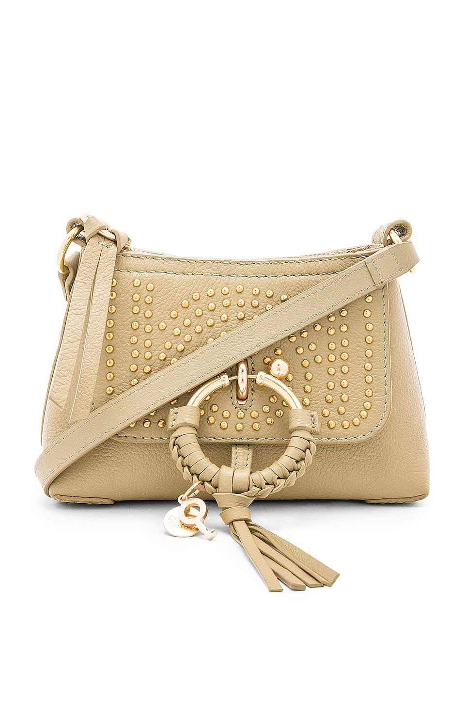 See By Chloe Joan Mini Studded Crossbody in Foamy Green