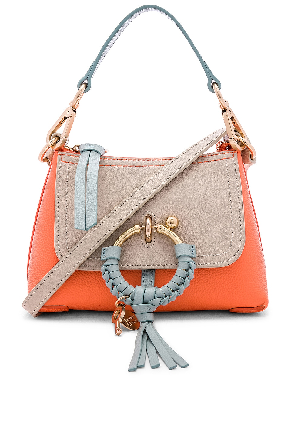 See By Chloe Mini Joan Colorblock Crossbody in Sparkling Orange
