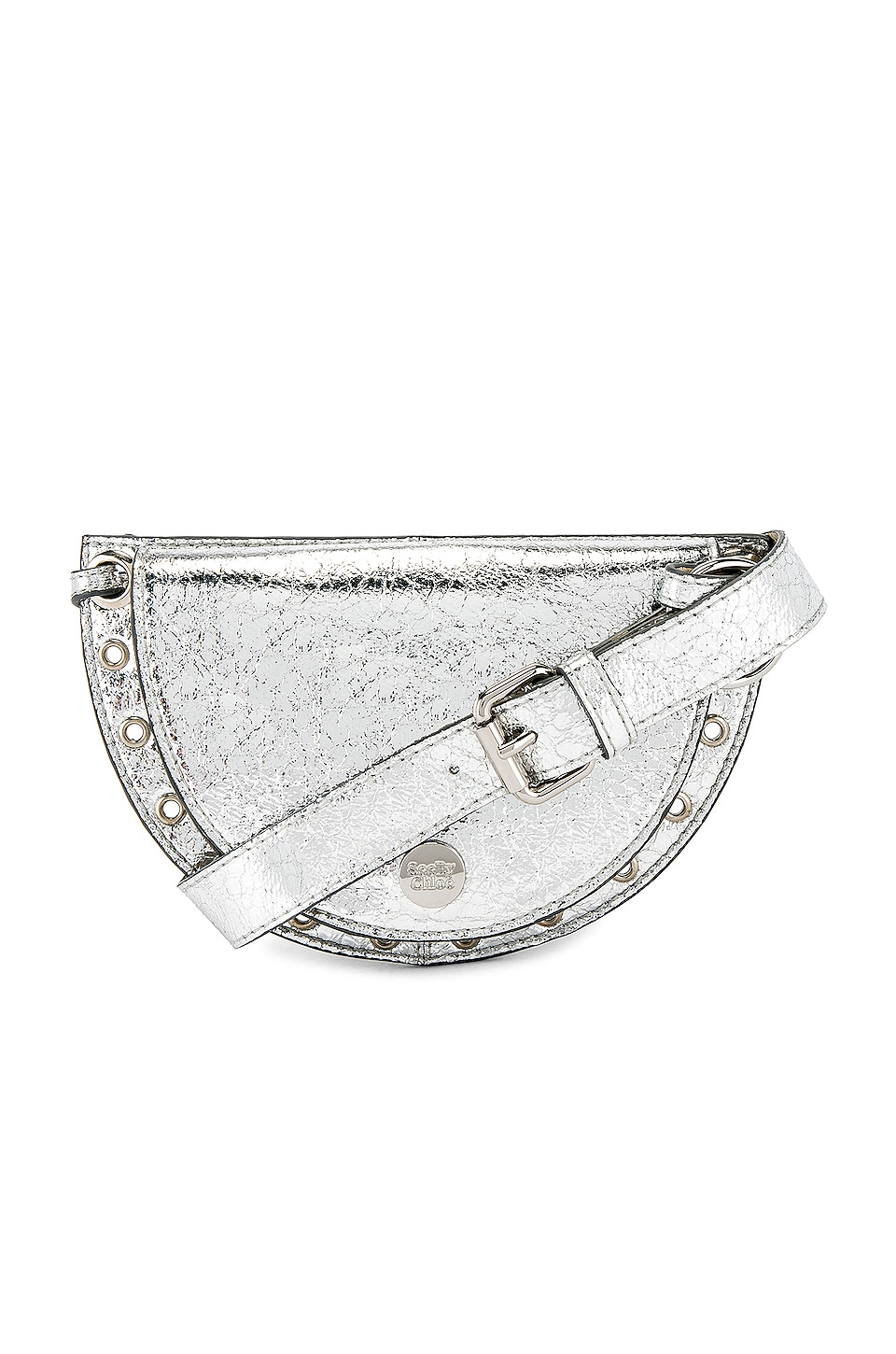 See By Chloe Kriss Metallic Belt Bag in Silver