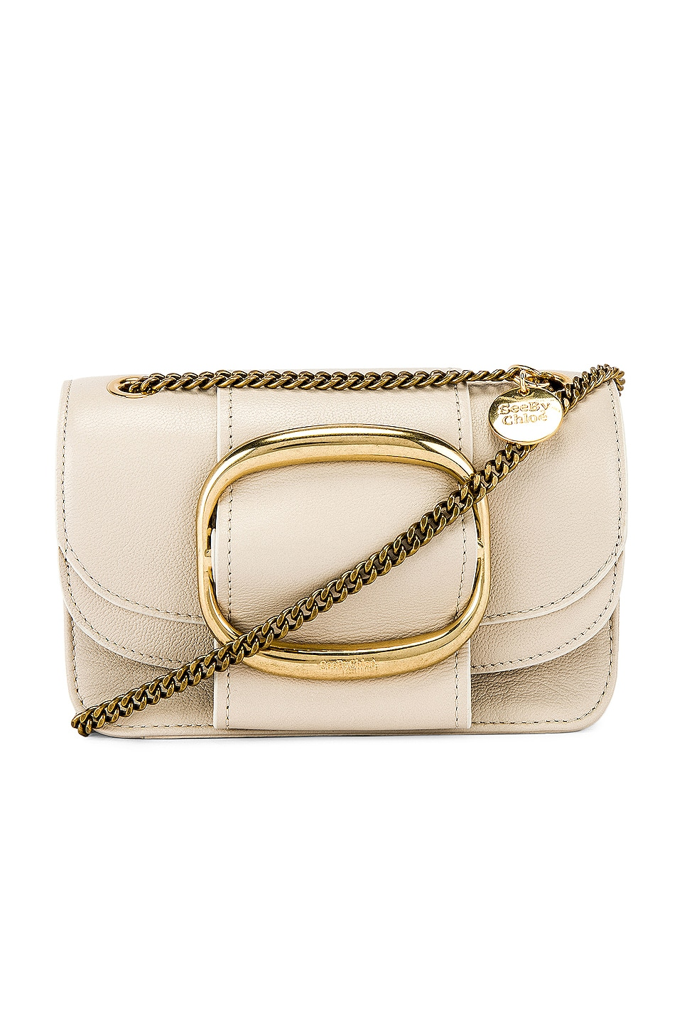 See By Chloe Hopper Small Crossbody in Cement Beige