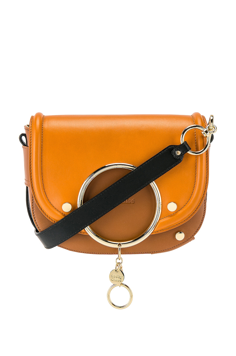 See By Chloe Mara Leather Colorblock Crossbody in Luminous Ochre