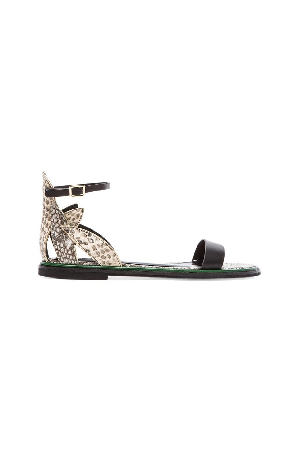 See By Chloe Flat Python Sandal in Black