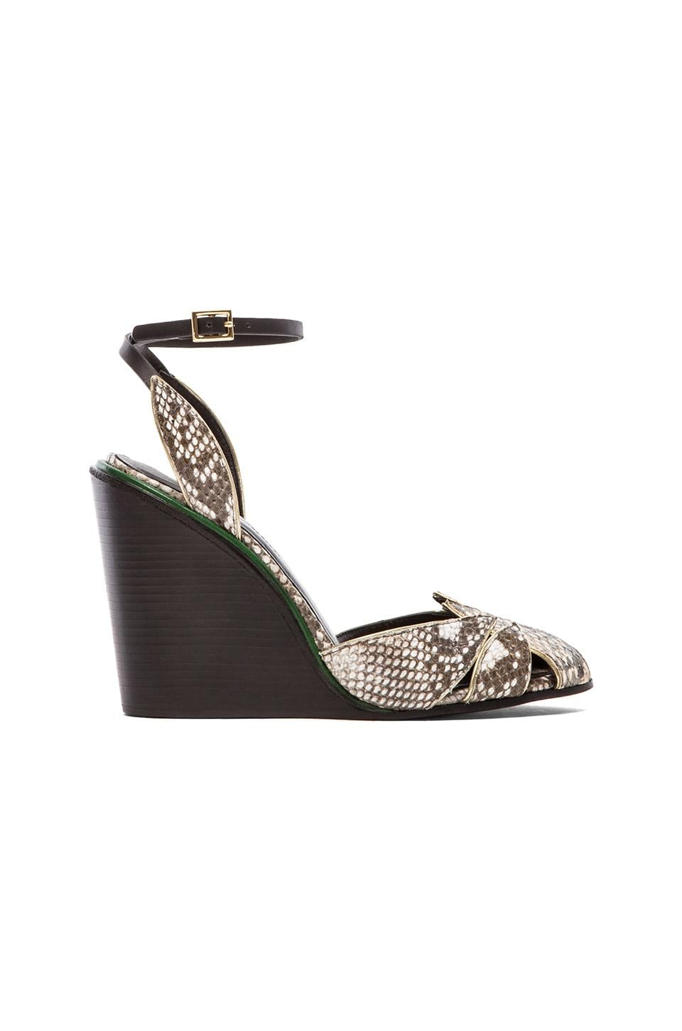See By Chloe Snake Wedge in Black & White