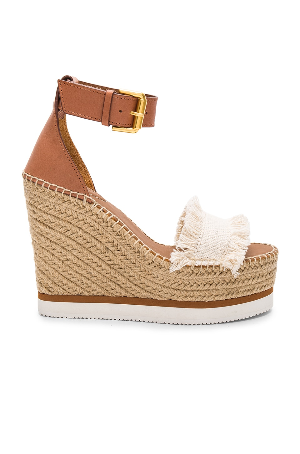 See By Chloe Frayed Wedge in Canvas