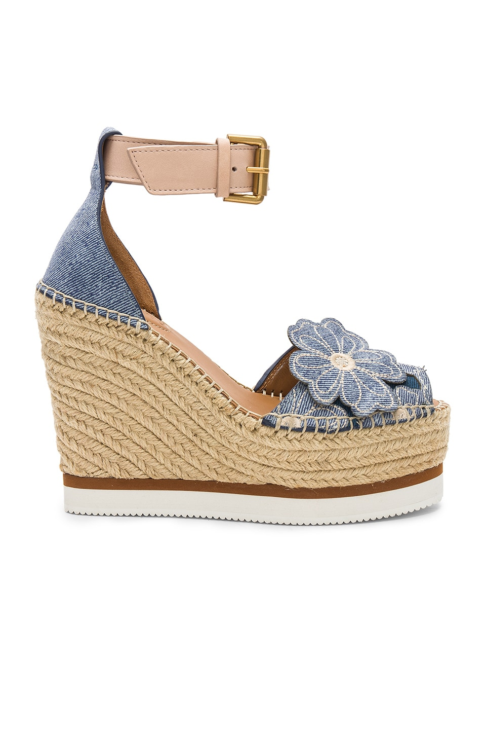 See By Chloe Glyn Wedge in Denim