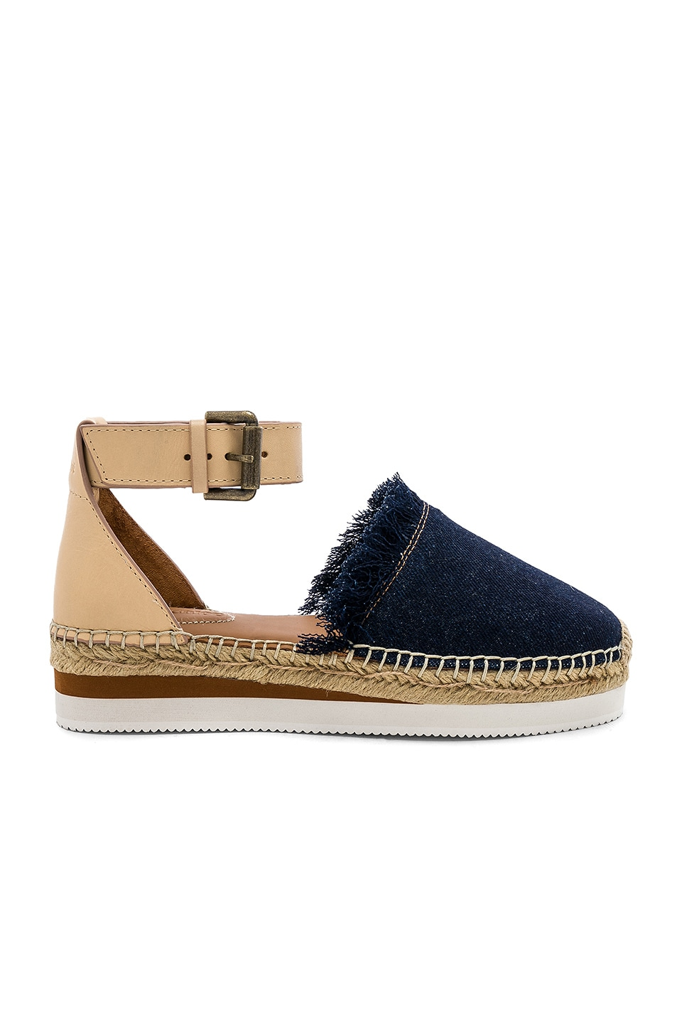 See By Chloe Glyn Flat Espadrille in Denim