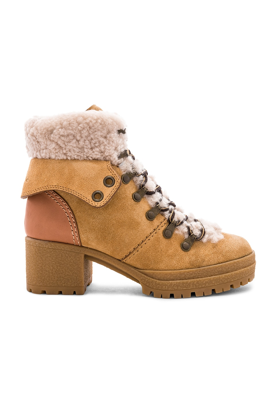 Shearling Lace Up Bootie