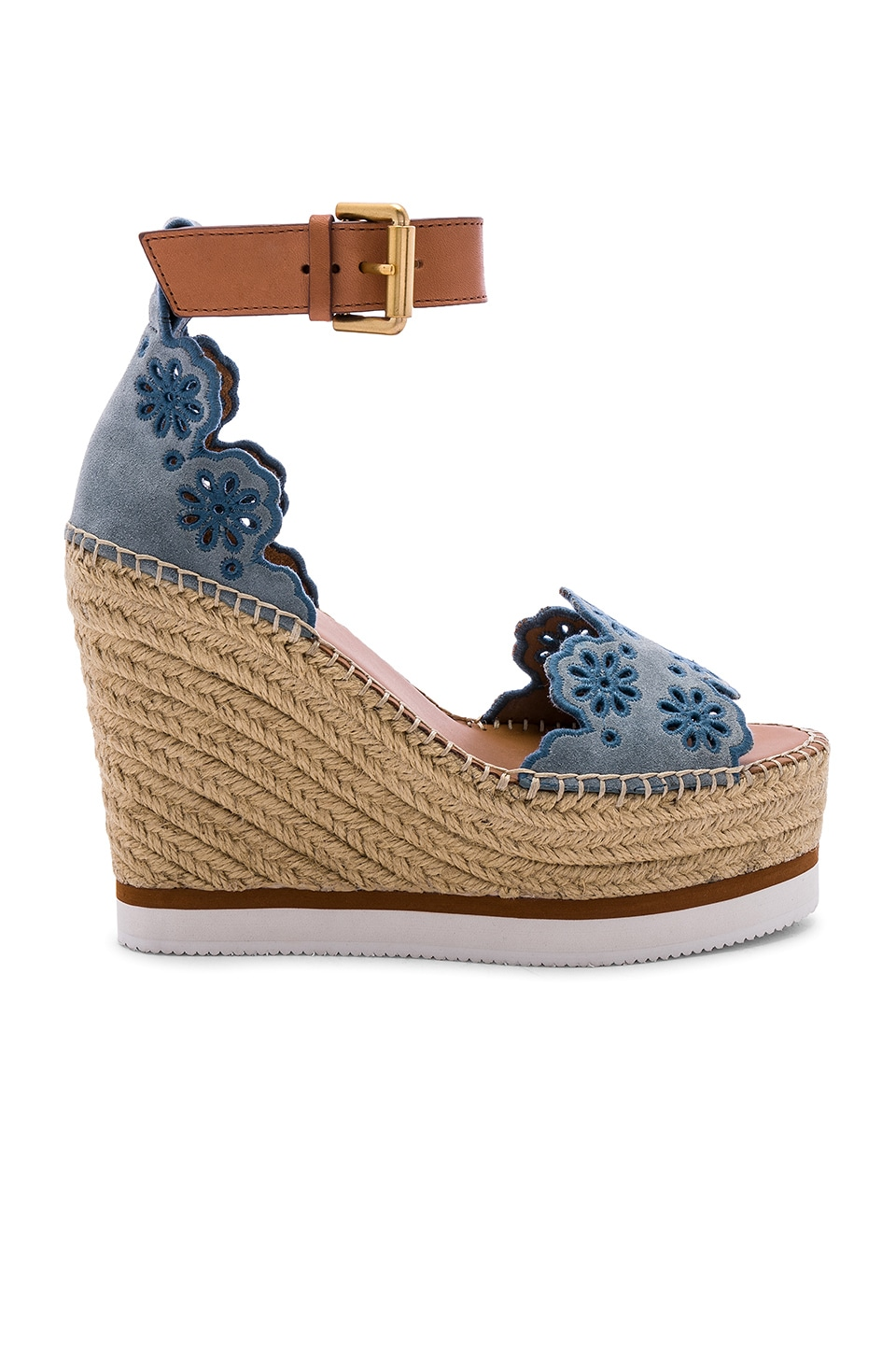 See By Chloe Glyn Wedge Sandal in Nuvola