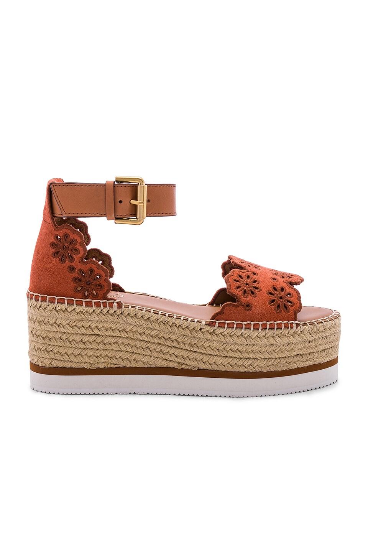See By Chloe Glyn Platform Sandal in Rust