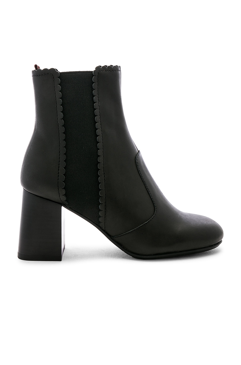 See By Chloe Scallop Heel Bootie in Nero