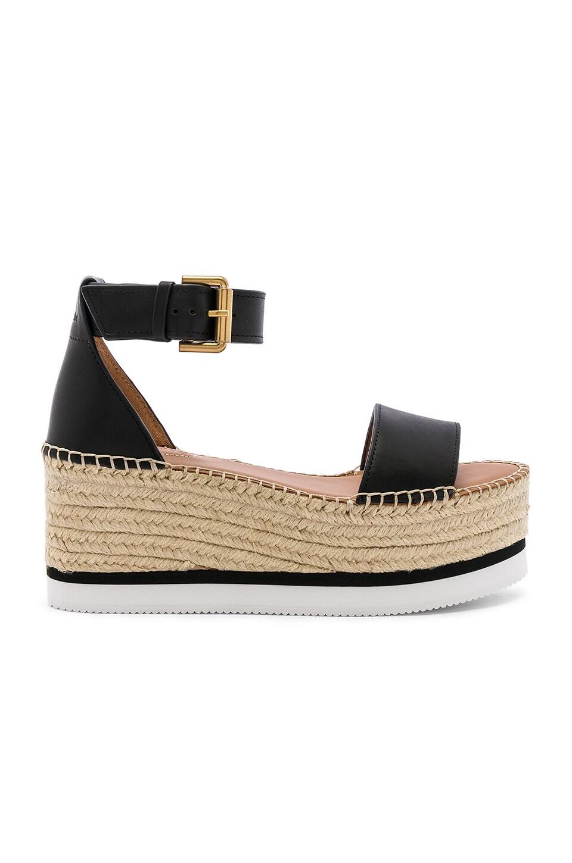 See By Chloe Glyn Platform Sandal in Nero